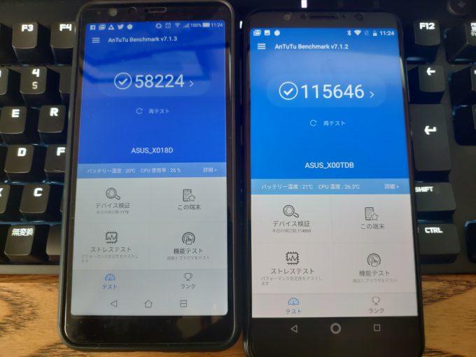 ZenFone Maxシリーズ ベンチマーク