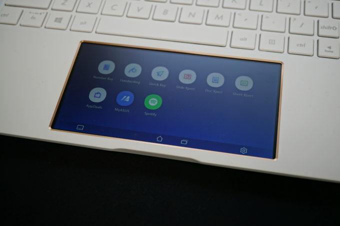 ZenBook 15 タッチパッド液晶