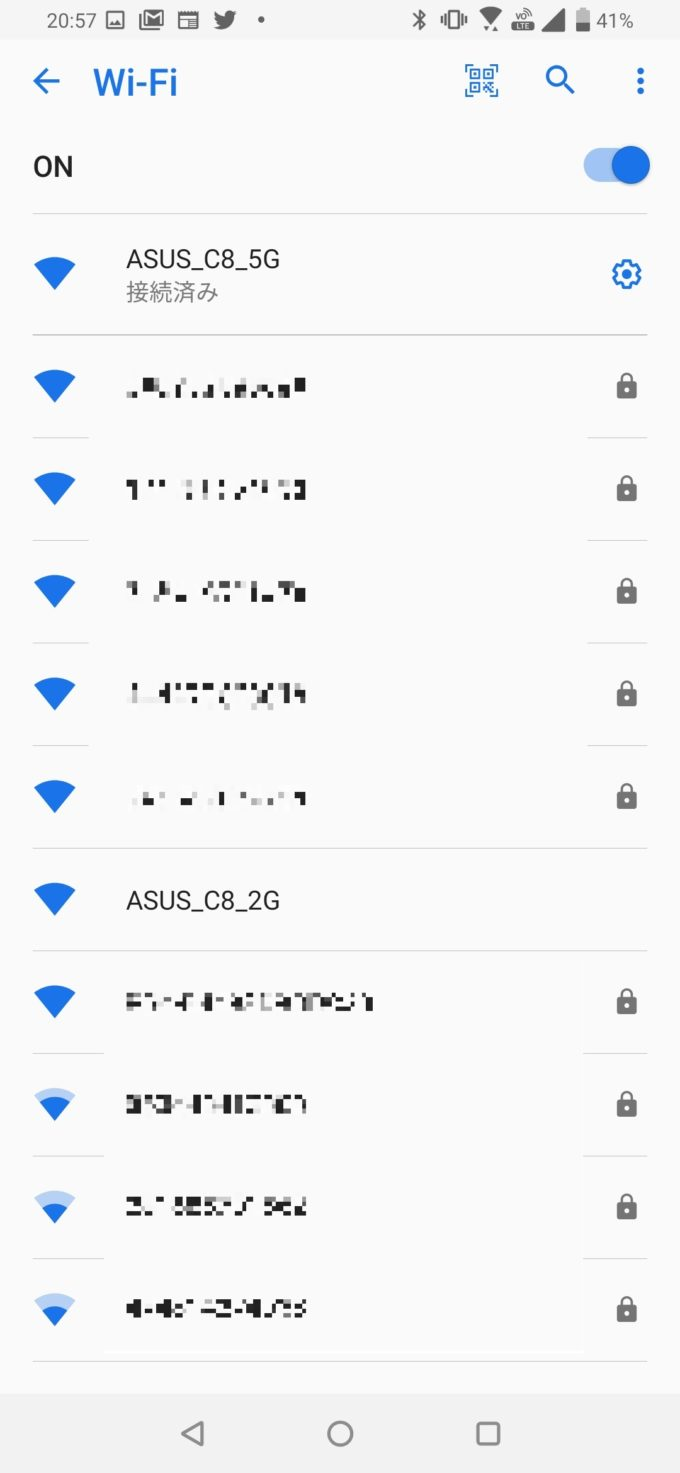 ASUSルーター Wi-Fi