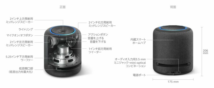 Amazon Echo Studio サイズ