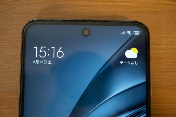 Xiaomi Redmi Note 9S インカメラ