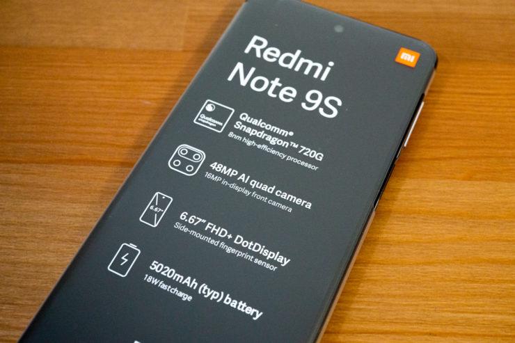 Xiaomi Redmi Note 9S スペック
