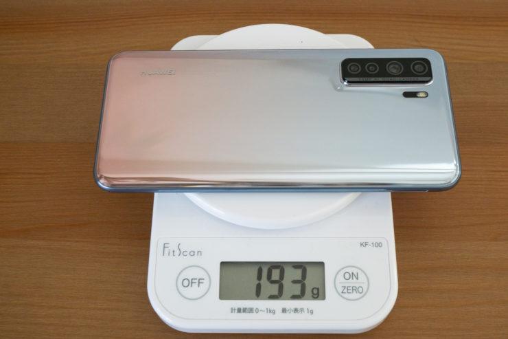 HUAWEI P40 lite 5G 重さ