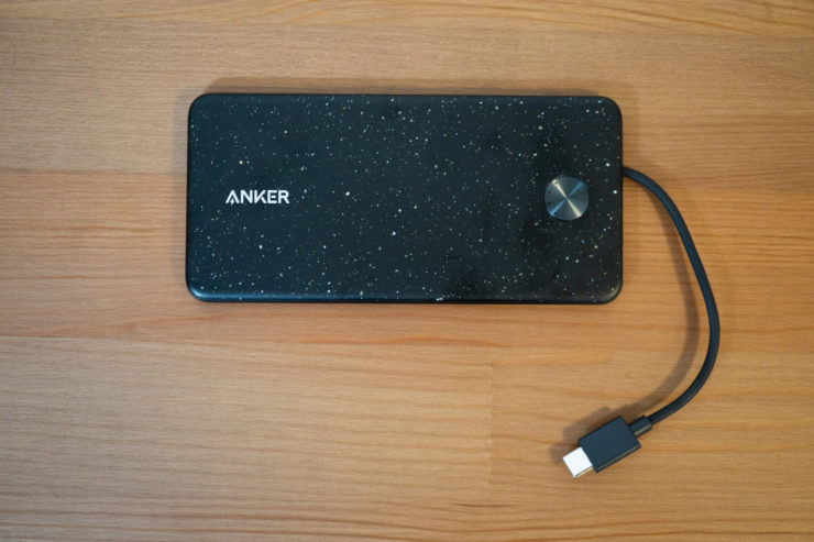 Anker PowerCore III Slim 5000 with Built-in USB-C Cable 本体