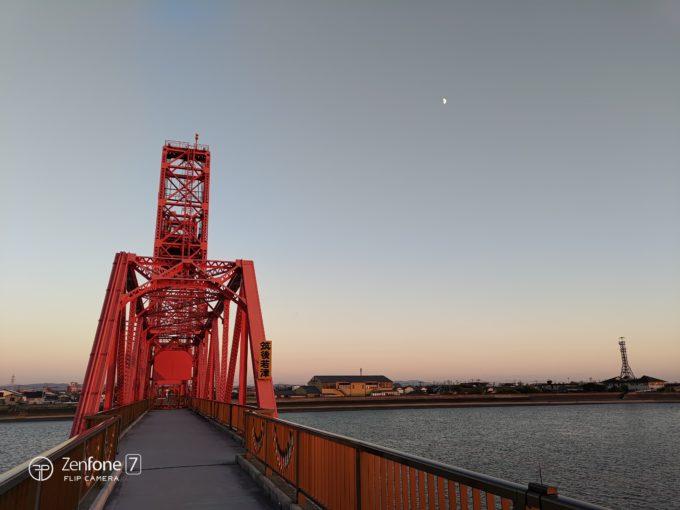 ZenFone 7と筑後川昇開橋2