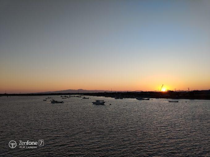 ZenFone 7での夕日撮影