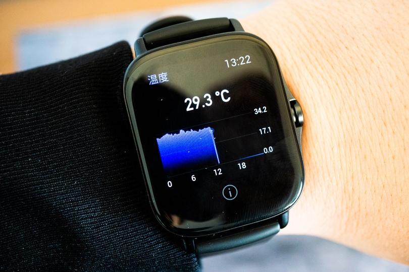 Amazfit GTS 2e 体温度計