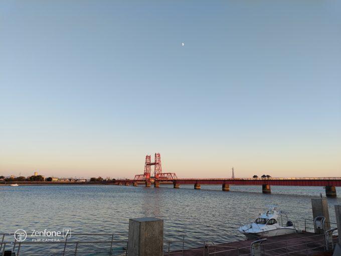 ZenFone 7と筑後川昇開橋