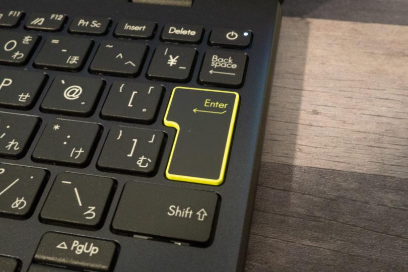 ASUS E210MA Enterキー